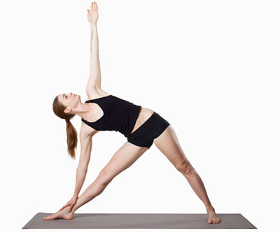 triangle pose to increase height