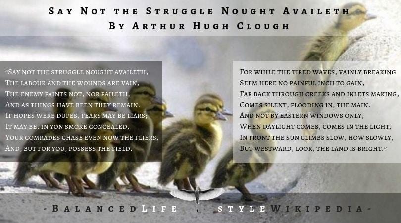 struggle nought availeth