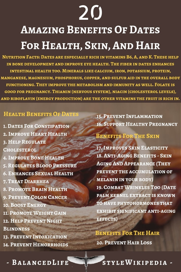 20 Amazing Benefits Of Dates For Health, Skin, And Hair