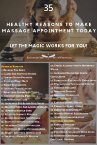 35 Healthy Reasons To Make Massage Appointment Today