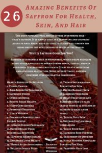 26 Amazing Benefits Of Saffron For Health, Skin, And Hair