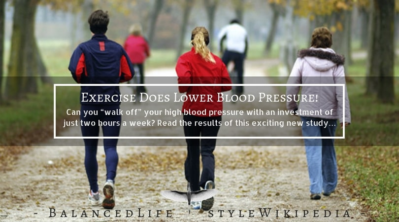 Exercise Does Lower Blood Pressure!