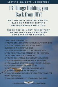 13 Things Holding You Back From Joy!