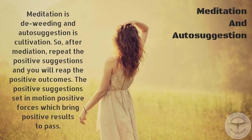 Meditation And Autosuggestion