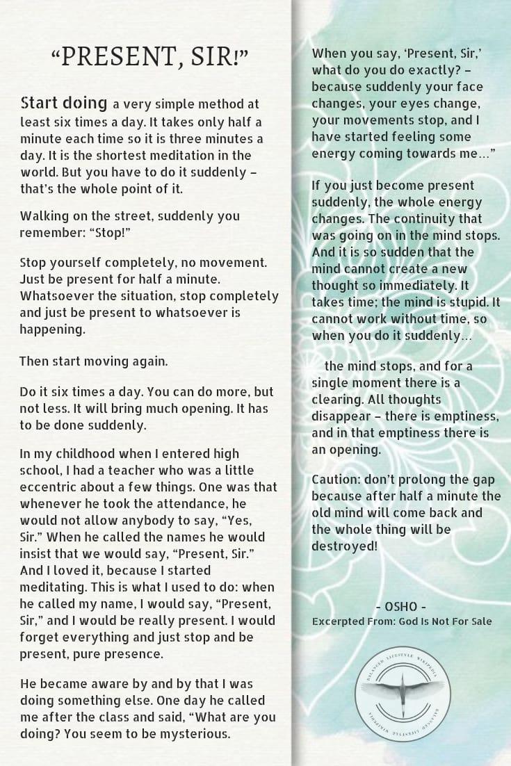 shortest meditation