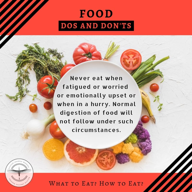 When not to eat